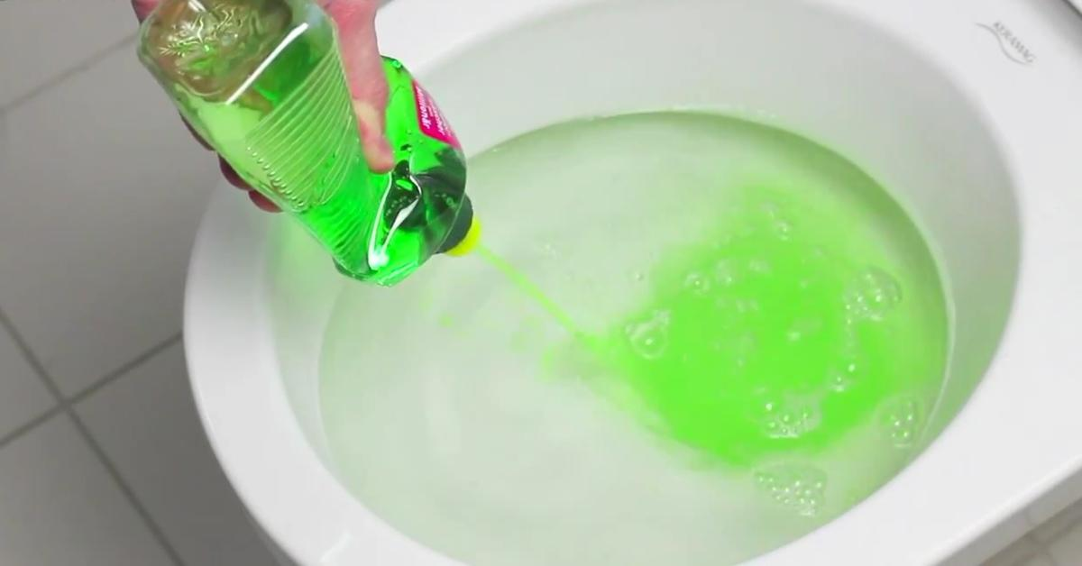 A Handyman Pours Dish Soap Into The Toilet What It Causes