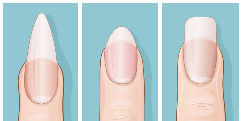 Nail shape: This can tell you a lot about your personality