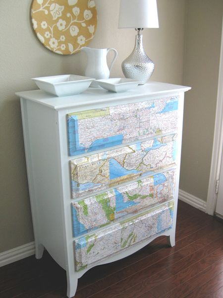 Heres How You Can Upgrade Old Furniture With Wallpaper Remnants