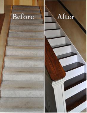 Changing Carpet Stairs To Wood Photos Freezer And Stair Iyashix Com