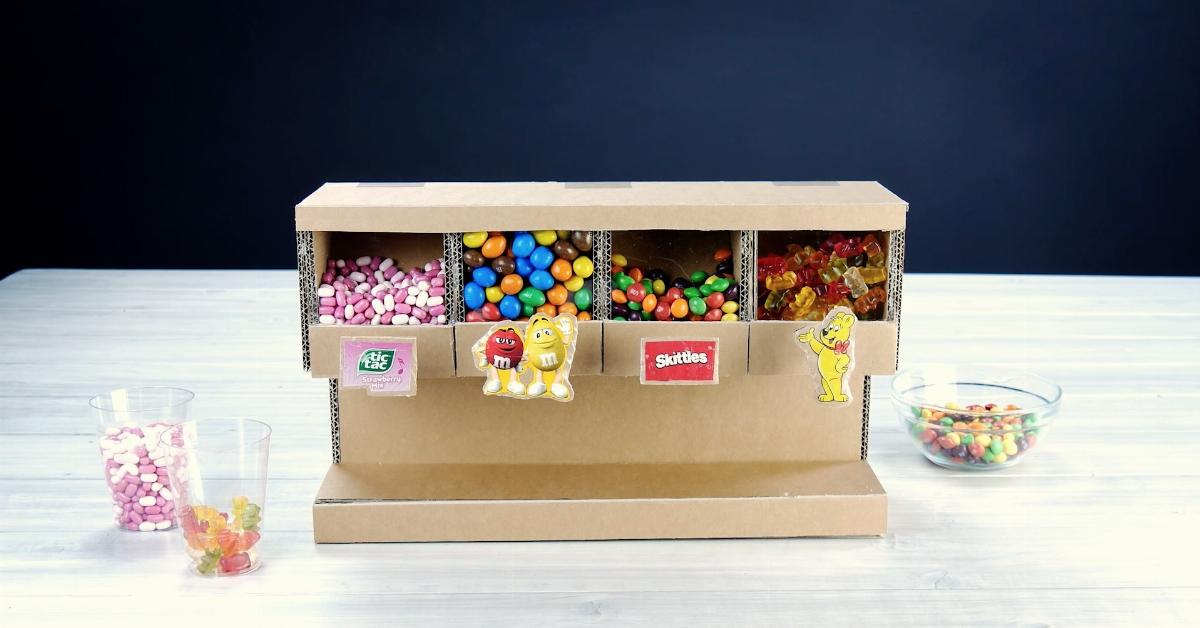 Diy Make Your Own Candy Dispenser From Cardboard