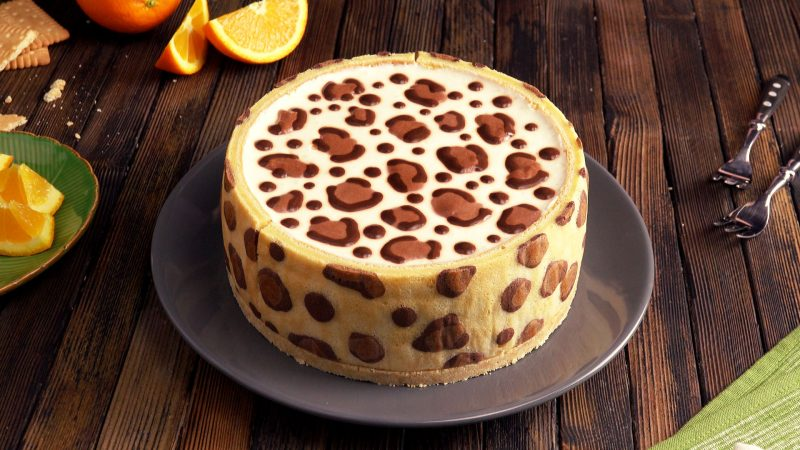 Image result for leopard cake cookie dough candied oranges