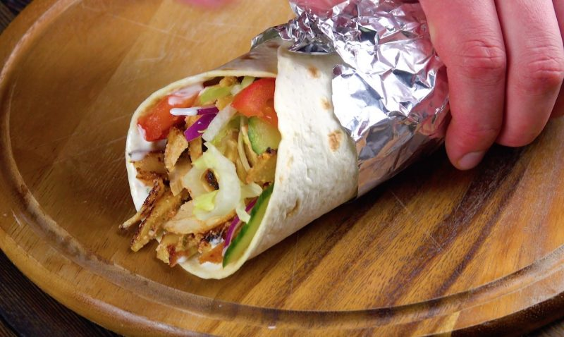 Prepare A Delicious Chicken Kebab Wrap With This Giant Skewer