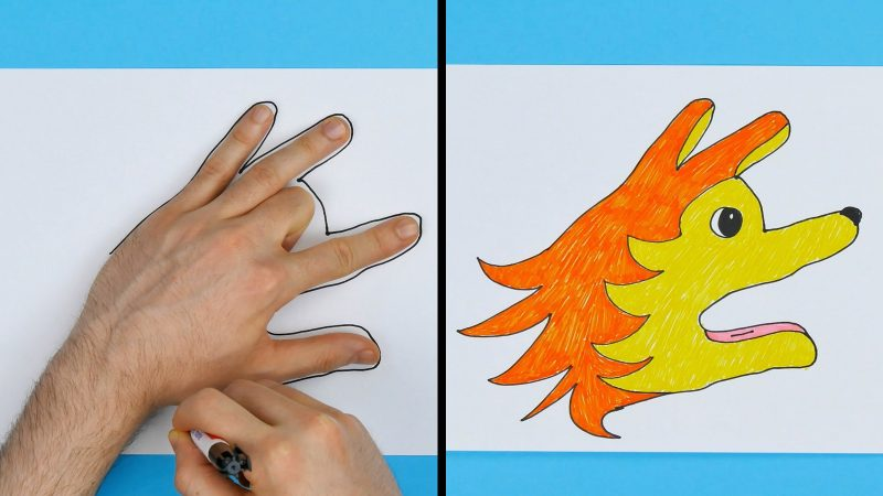 4 Fun Easy Diy Hand Drawings For Kids