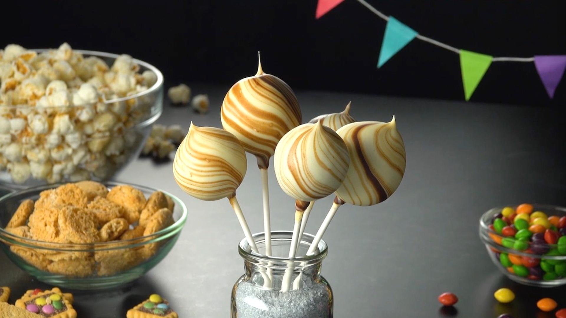 Ferrero Rocher Cake Pops – Hazelnut Chocolate Cake Balls