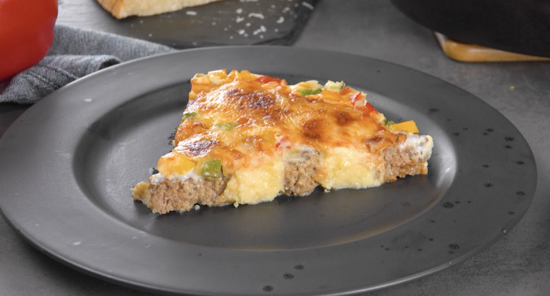 Ground Beef And Mashed Potato Spiral Pizza With Bechamel Sauce
