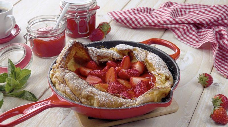 Strawberry Dutch Baby Pancake