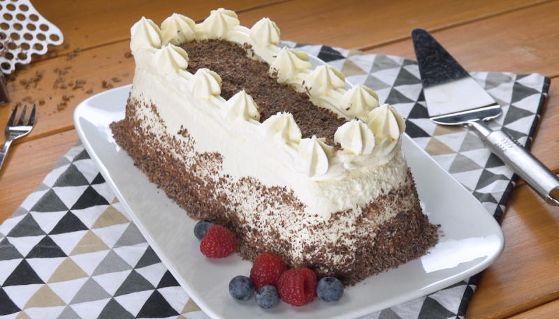 Chocolate Cream Graham Cracker Cake