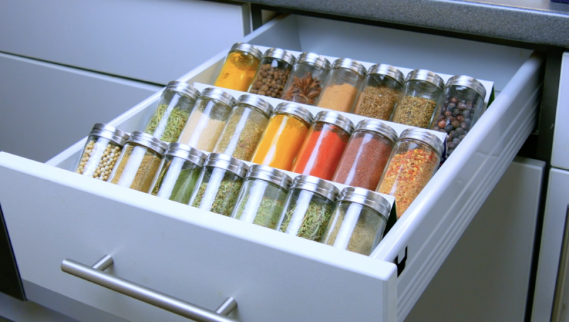Organize Your Spice Drawer
