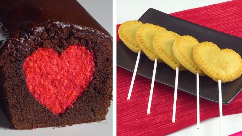 Love Heart Cake & Heart Lollipops