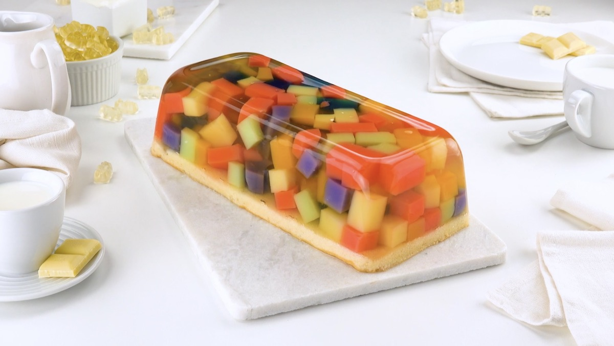Gummy Bear Jello Cake