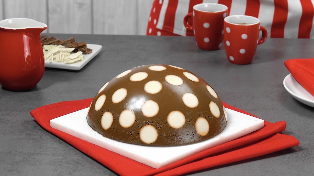 Polka Dot Pudding Cake