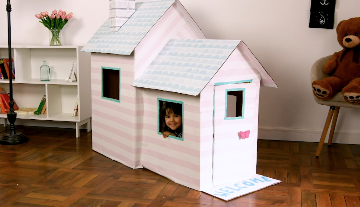 Homemade Indoor Playhouse For Kids