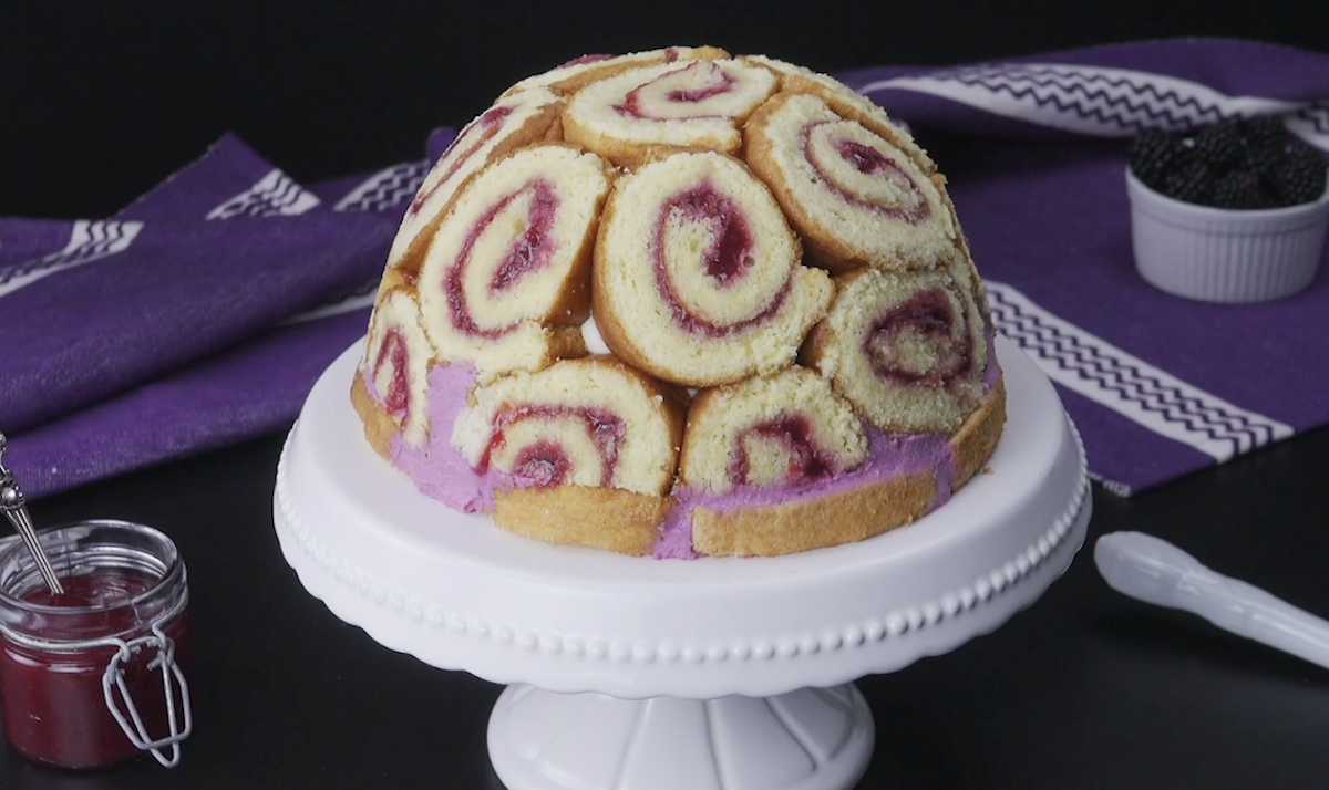 Blackberry Dome Cake