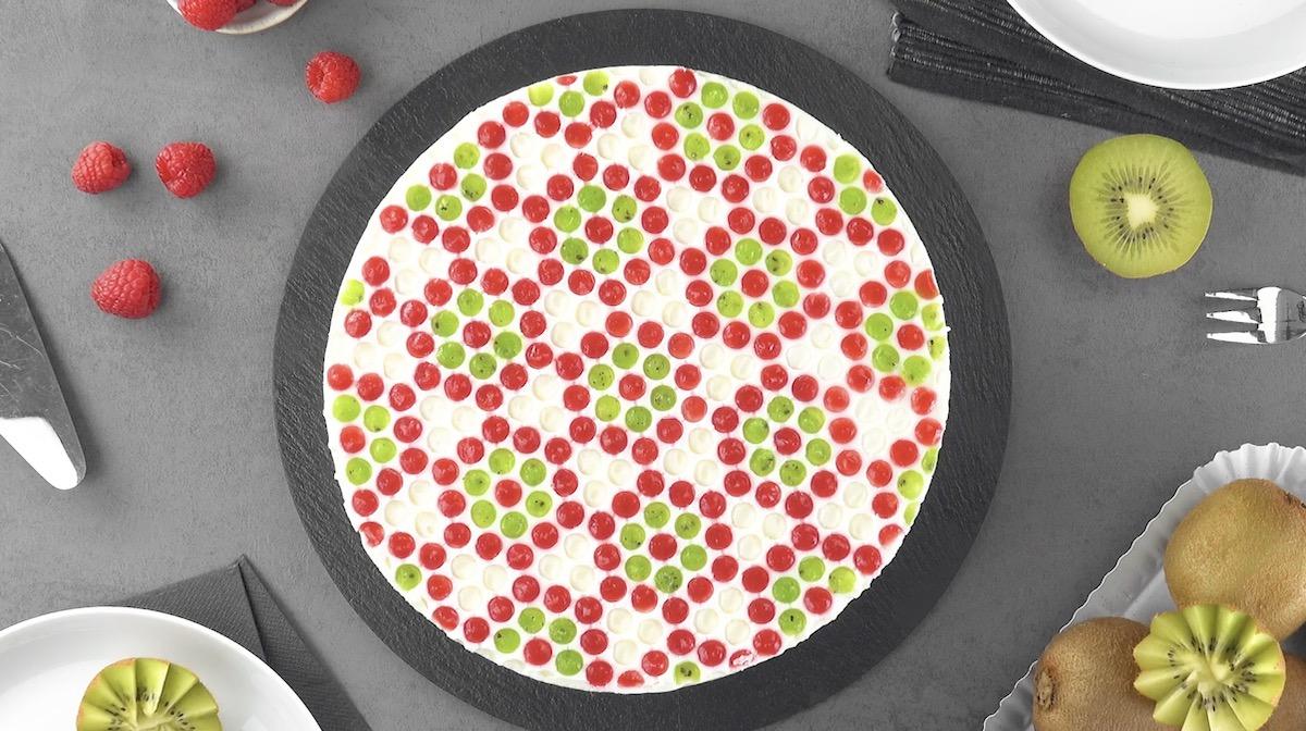 Yogurt Bubble Wrap Cheesecake