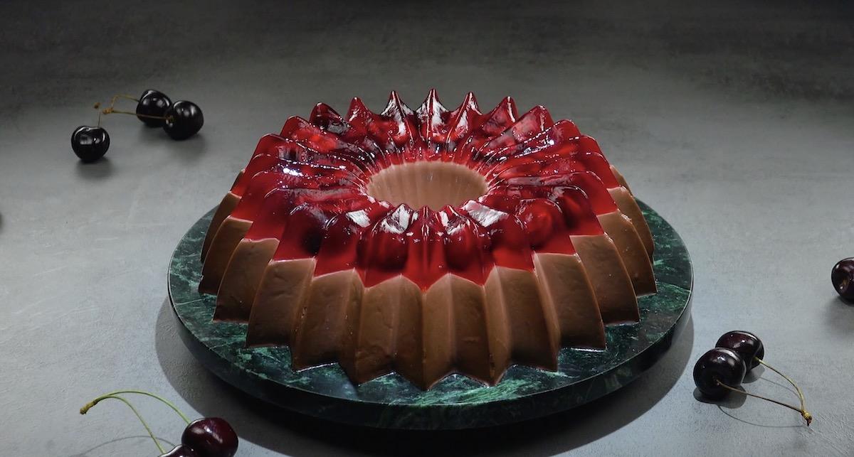 Chocolate Cherry Jello Bundt Cake