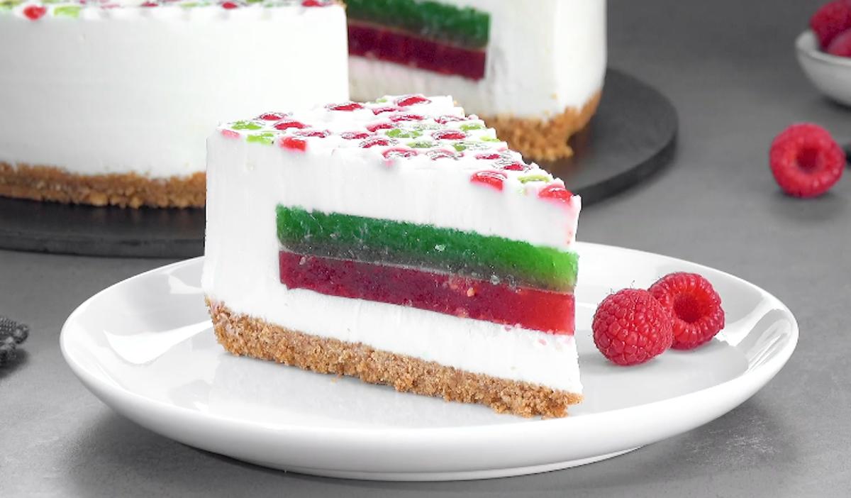 Jello Bubble Wrap Cheesecake