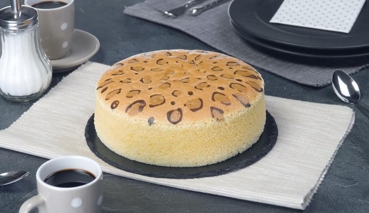 Japanese Leopard Spot Cheesecake   Sponge Cake