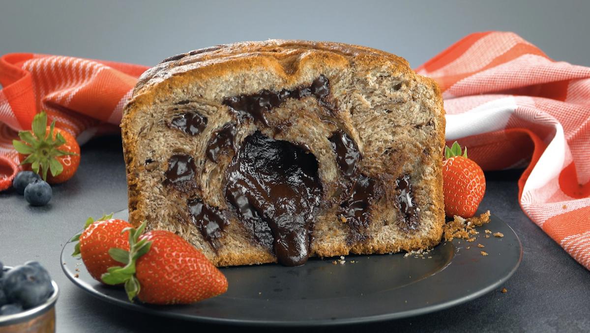 Chocolate Babka Cake With Chopped Hazelnuts