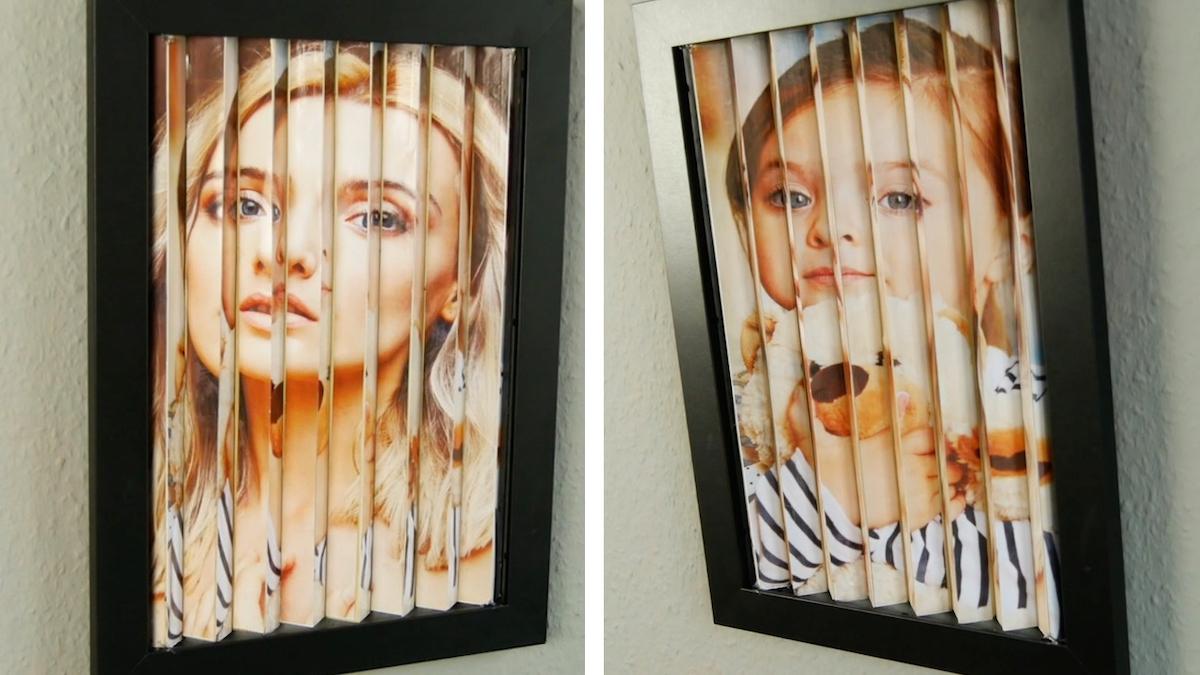 Optical Illusion Photo Frame