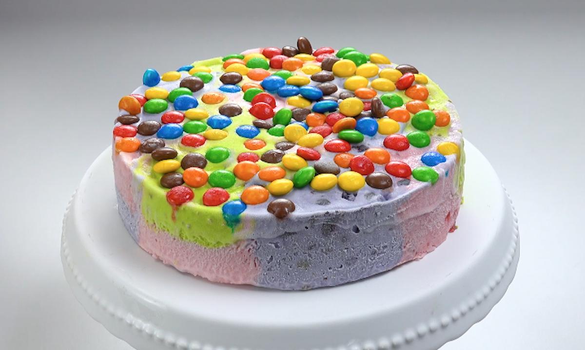 Colorful Ice Cream Cake