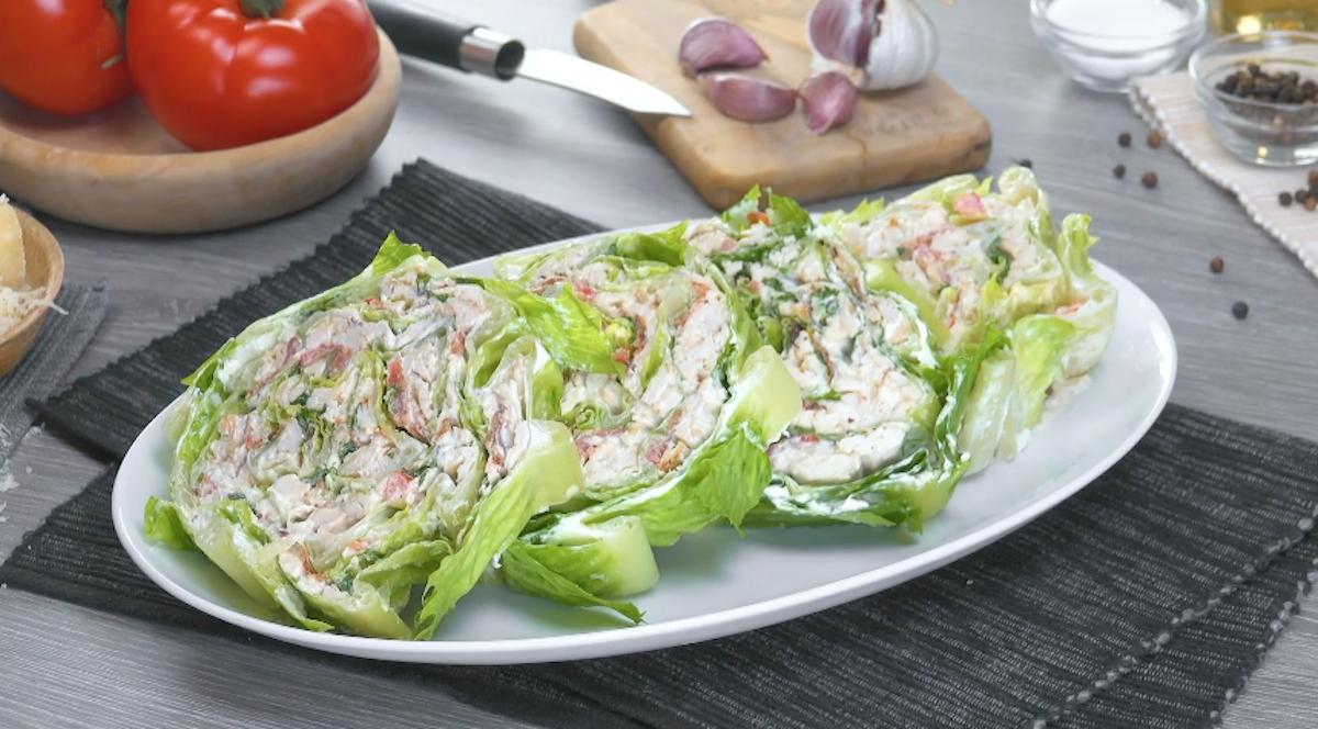 Chicken Caesar Wedge Salad Roll