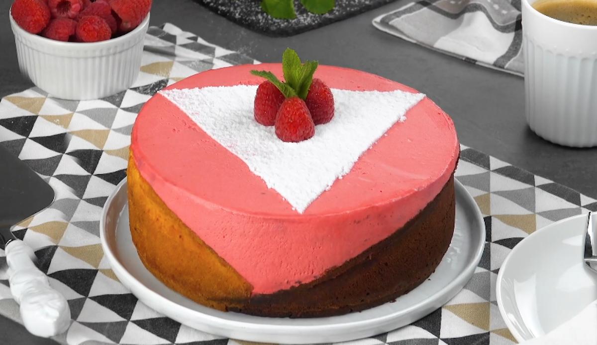 Yellow Chocolate Raspberry Cake