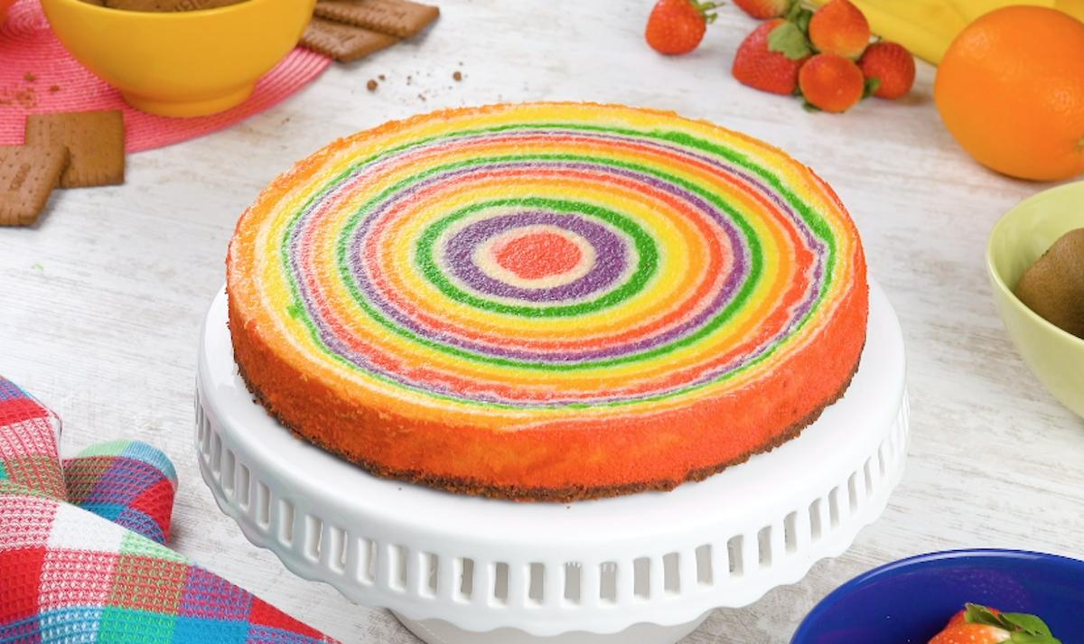 Rainbow Swirl Cheesecake