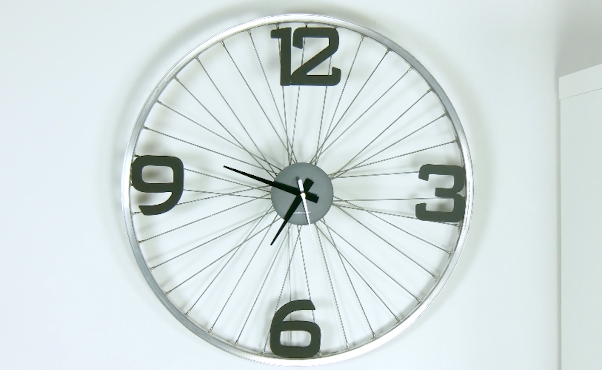 Bike Wheel Wall Clock