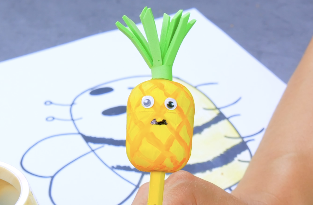 Pineapple Pencil And Sharpener