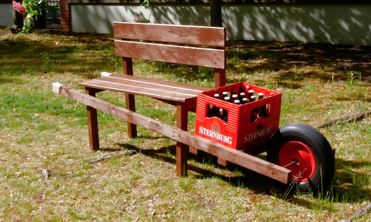 DIY Mobile Bench