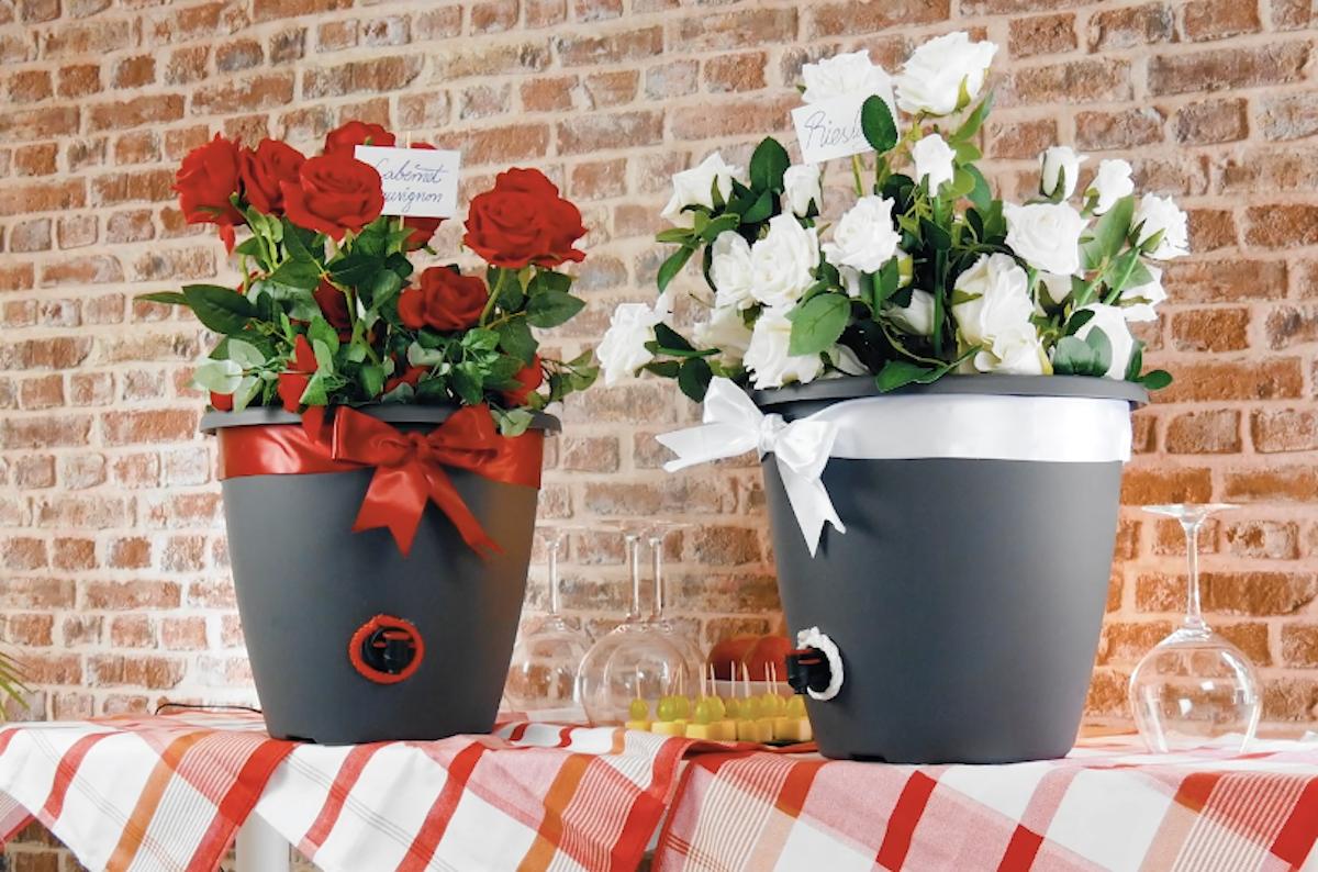 Flower Pot Wine Dispensers
