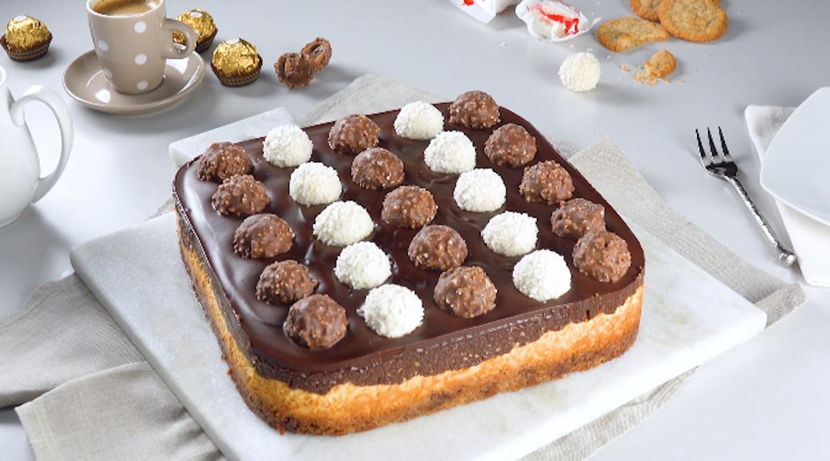 Ferrero Rocher And Raffaello Cheesecake