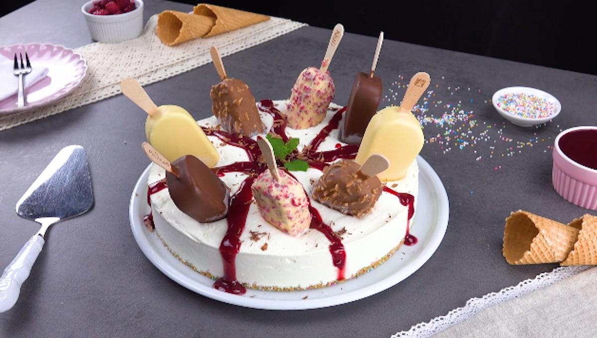 Magnum Ice Cream Cheesecake