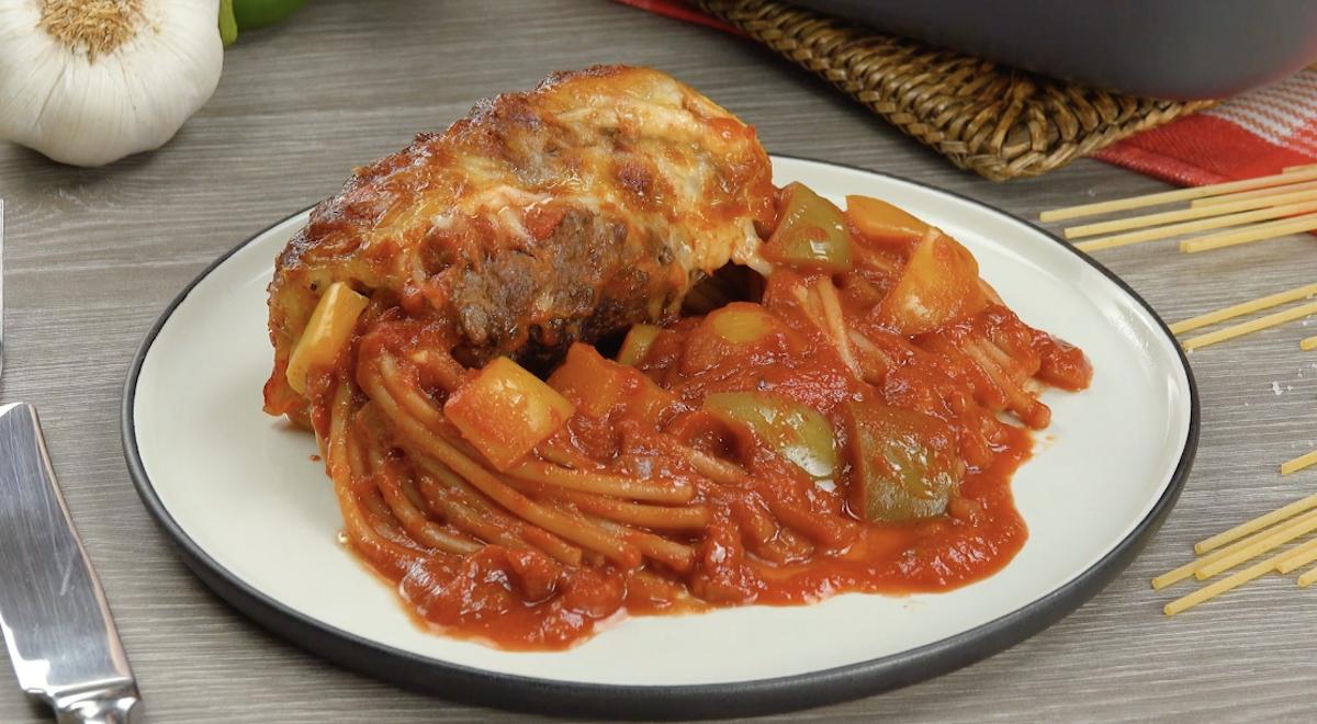 Meatball-Wrapped Spaghetti