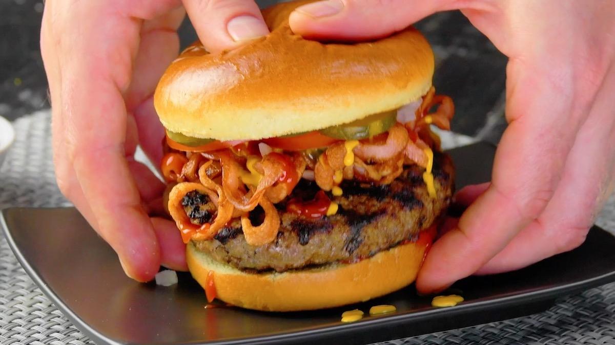 Chicago-Style Hot Dog Burger