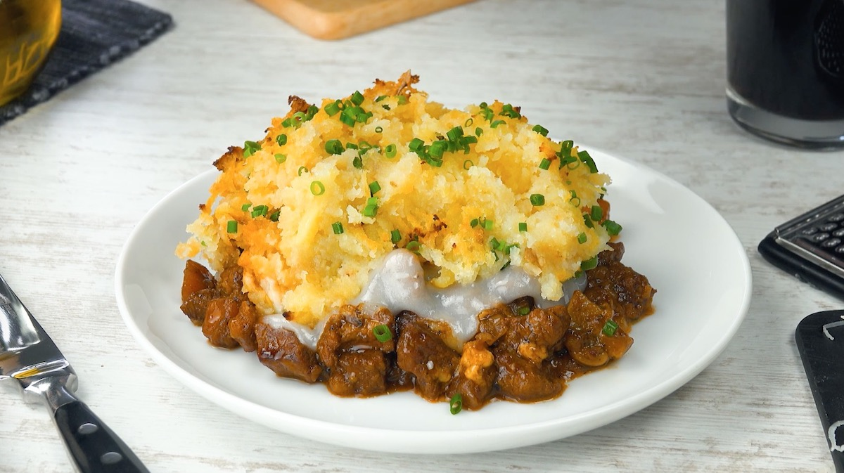 Steak And Cheese Cottage Pie