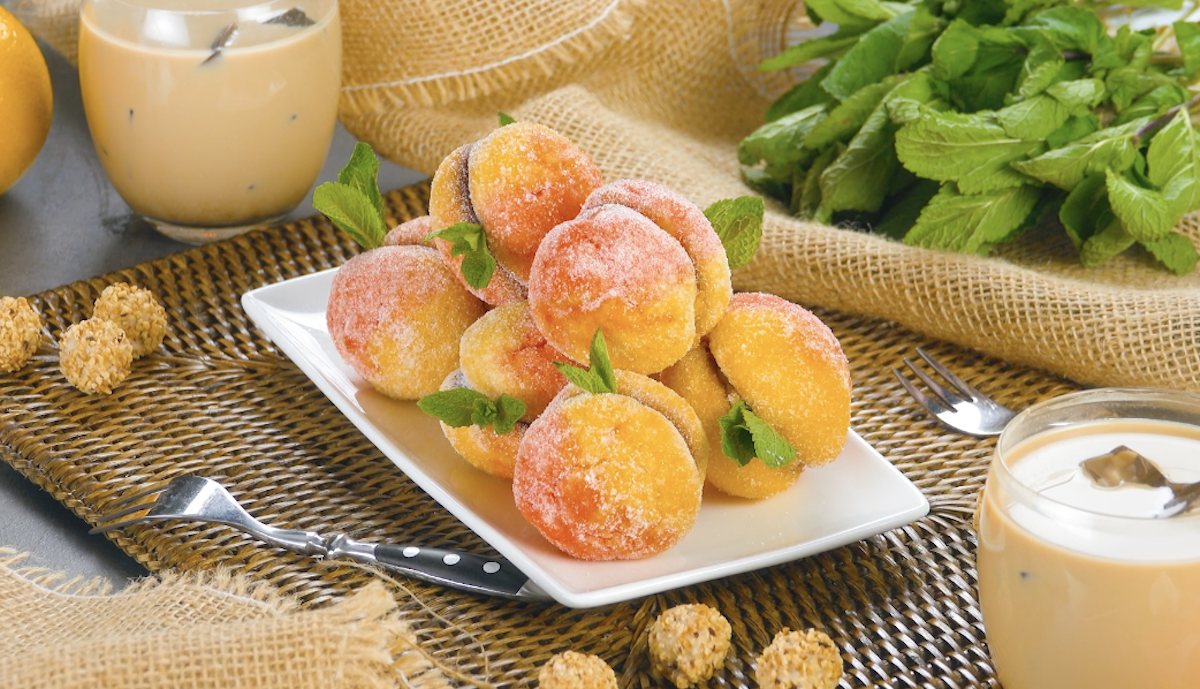 Delicious Peach Cookies Filled With Jam And Hazelnut Truffles