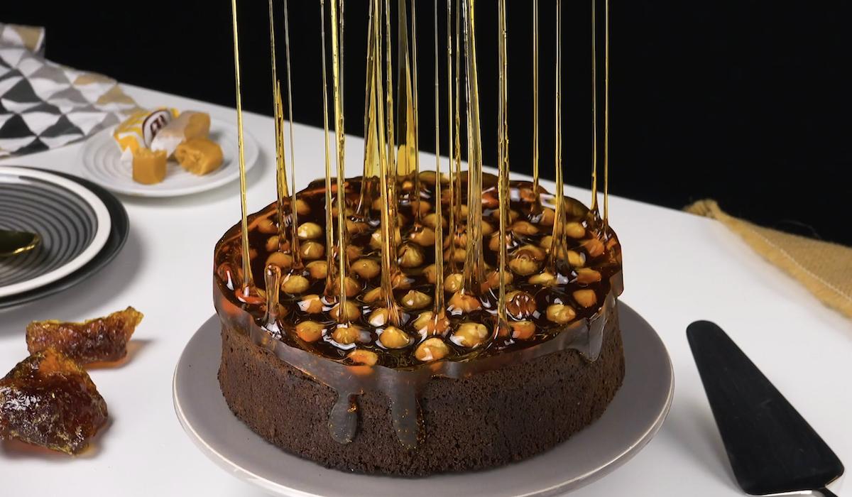 Magic Caramel Spike Cake