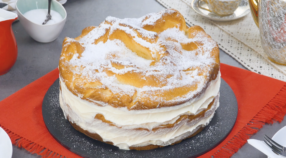 Polish Karpatka Cream Cake