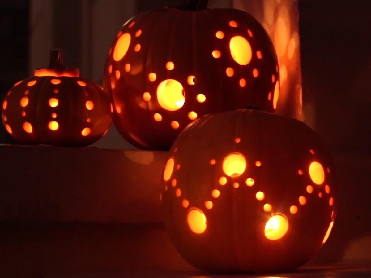 Drilled Halloween Pumpkins