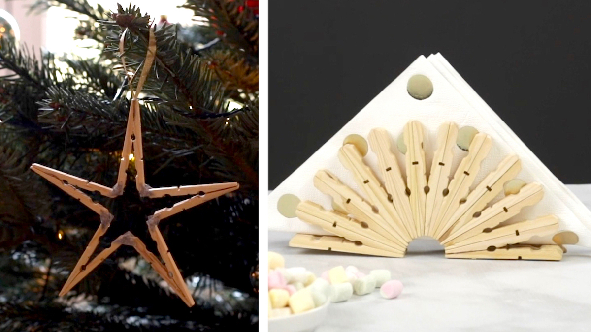 Christmas Clothespin Decorations