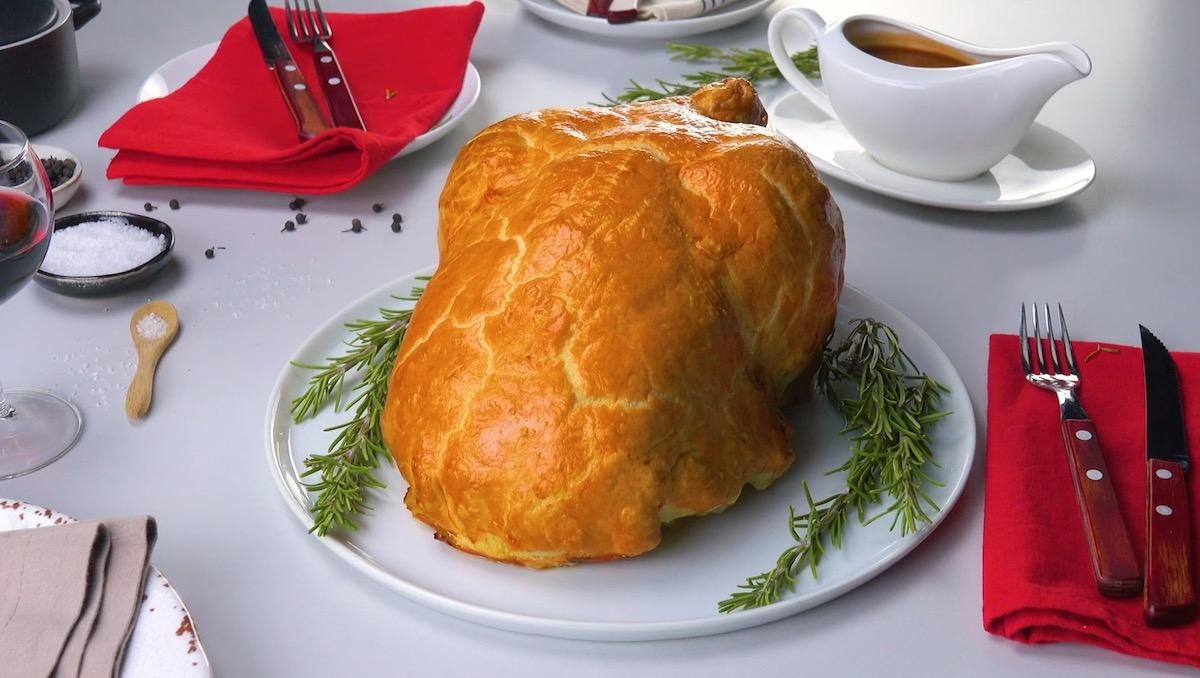 Stuffed Chicken in Pastry Crust