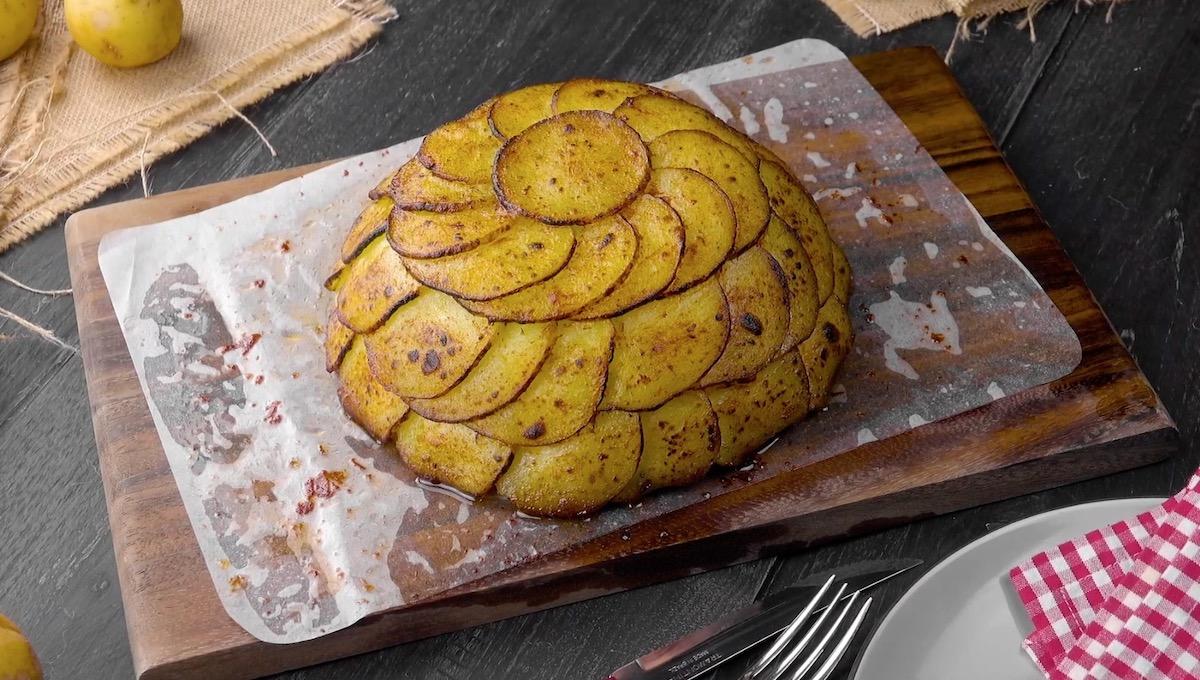 Scalloped Potato Dome Cake