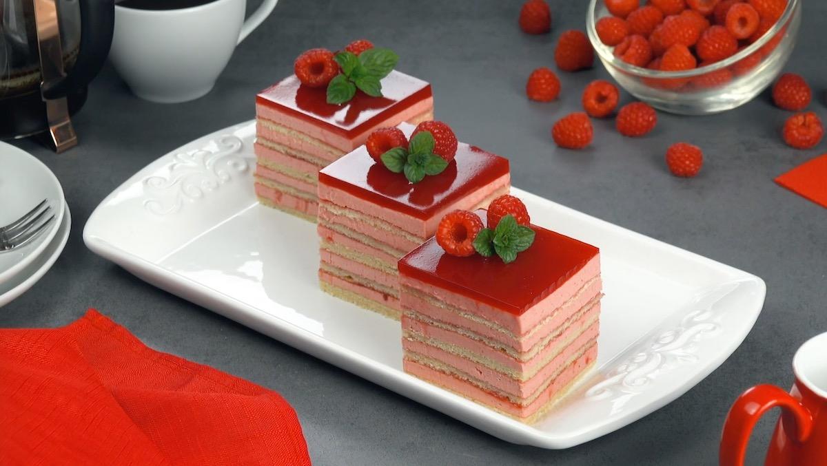 Raspberry Layer Cake