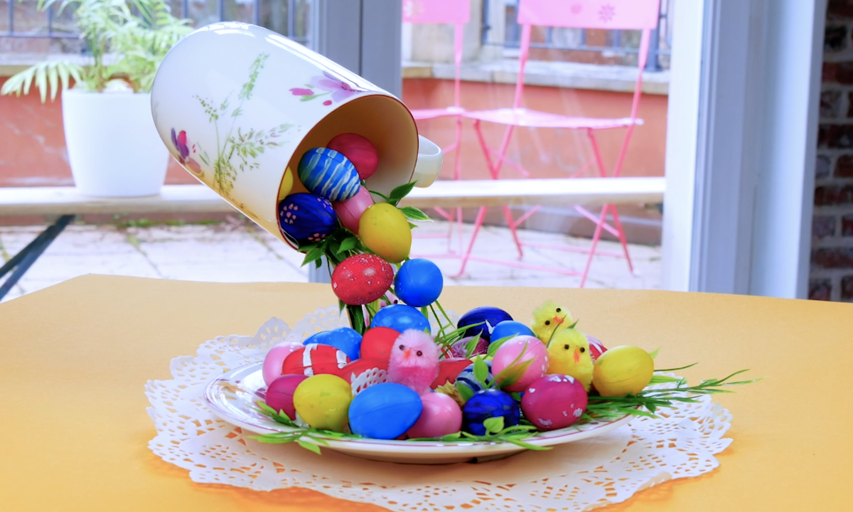 Floating Easter Egg Centerpiece