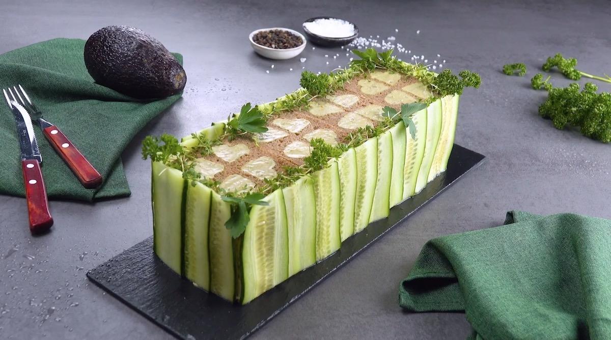Guacamole Chicken Salad Sandwich Cake