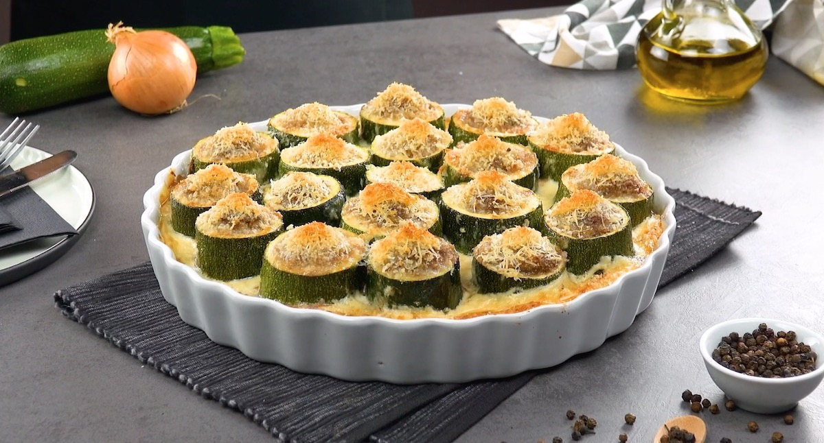 Zucchini Bites Stuffed With Ground Beef