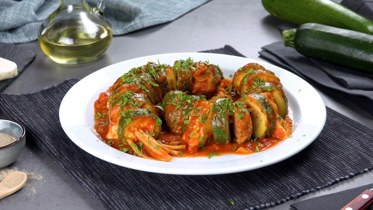 Zucchini Pasta Skewers