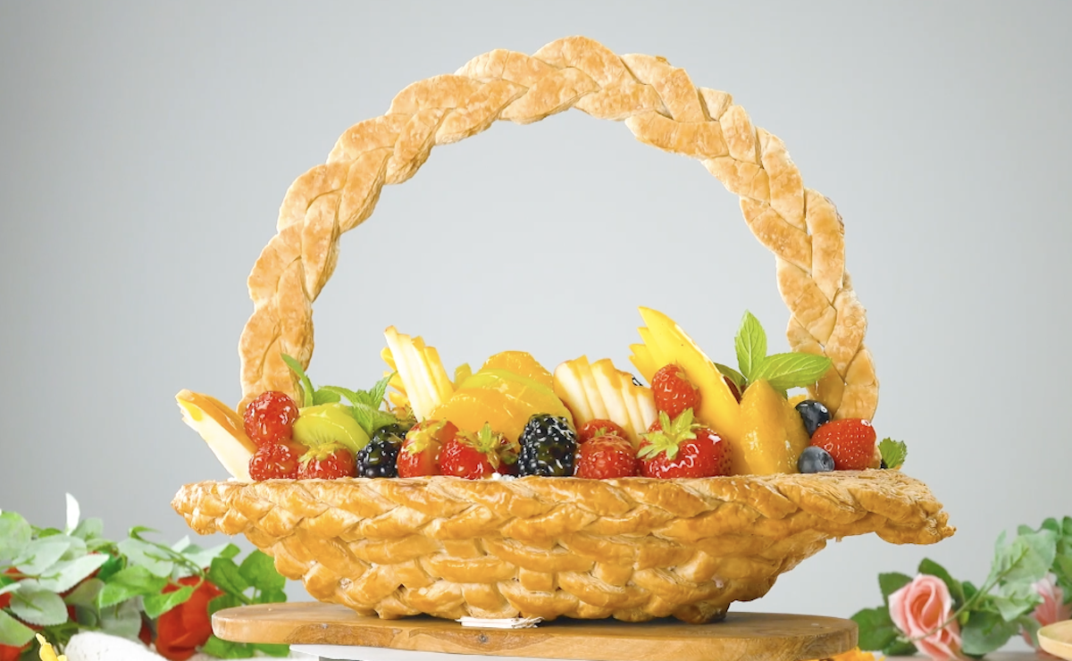 Puff Pastry Fruit Basket